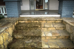 stone steps before and after